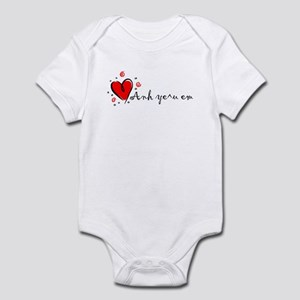 """I Love You"" [Vietnames-To Fe Infant Bodysuit"